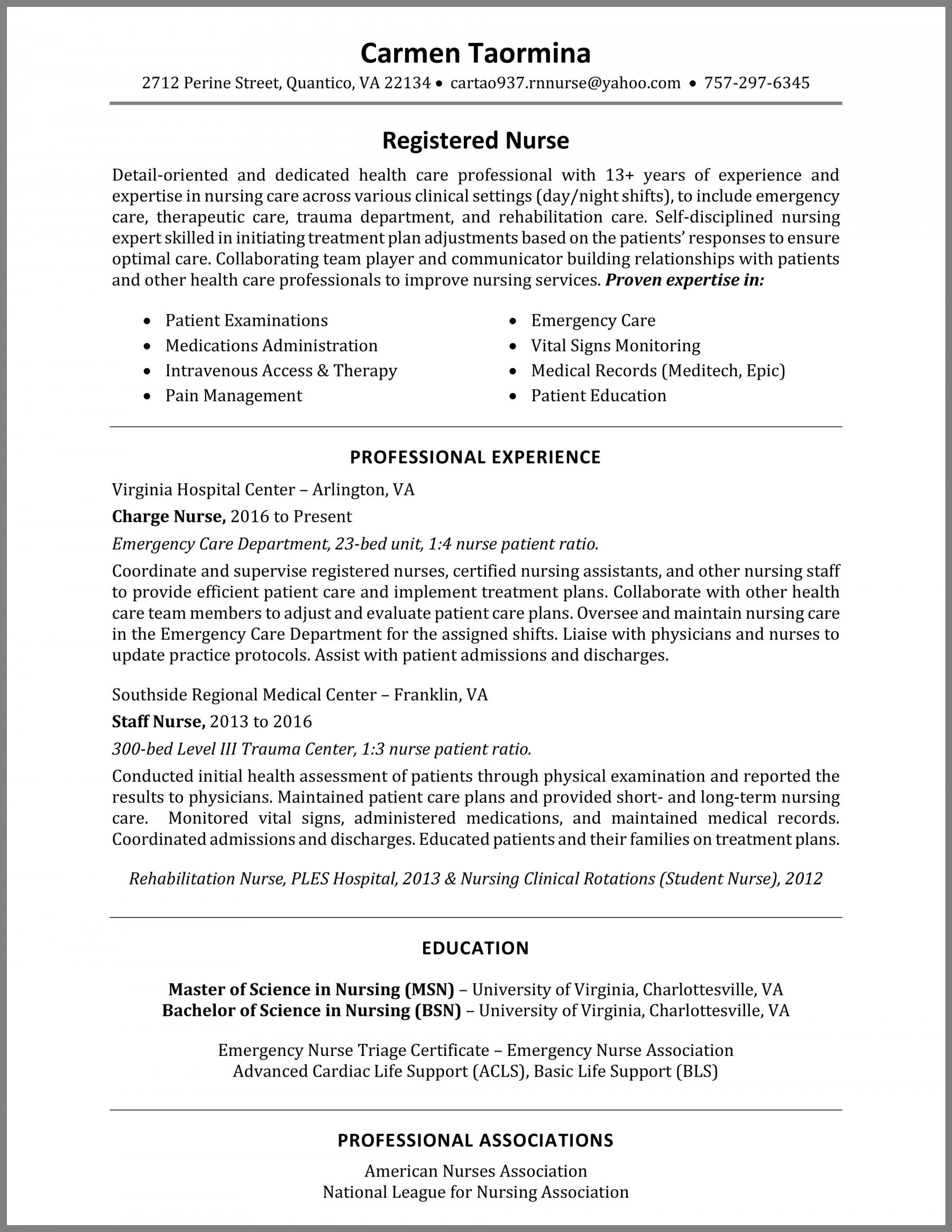 How to Write a Nurse Resume + Example
