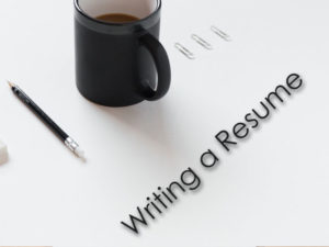 Writing a resume sign
