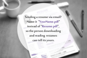 Sending Your Resume via Email