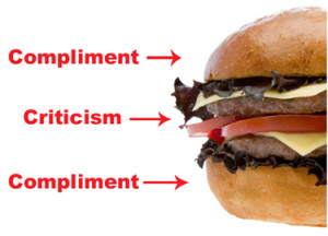 Tips for Constructive Criticism - Sandwich Method