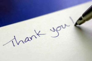 Thank You Letter Writing